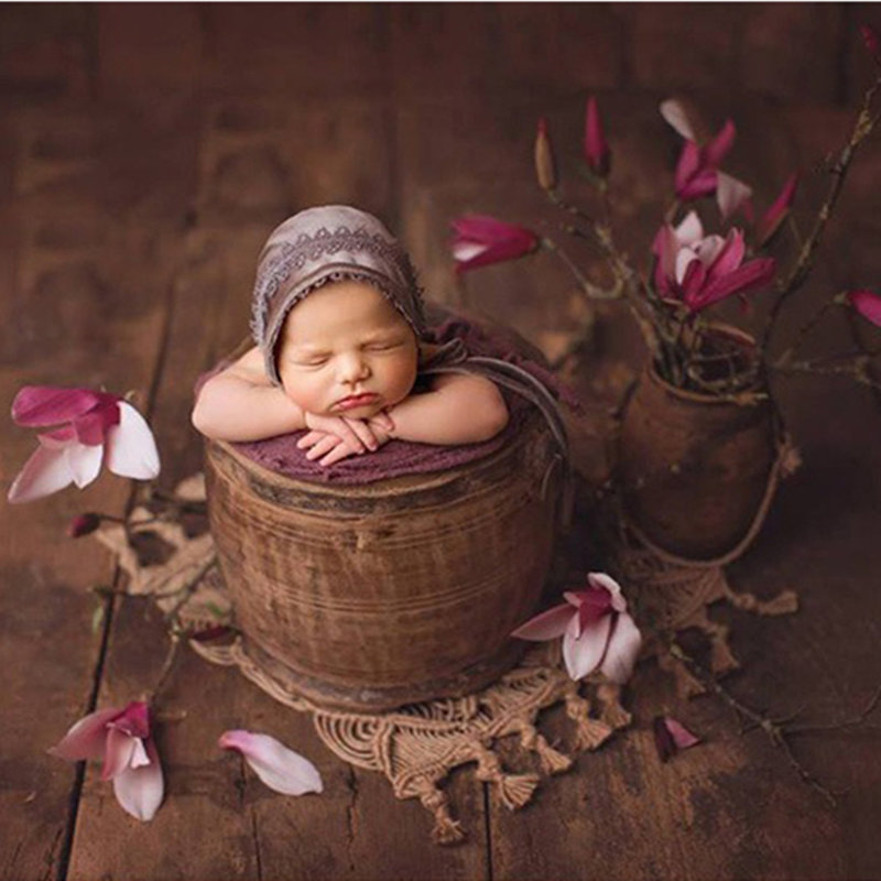 Newborn Macrame Photography Props,handwoven Jute Basket Blanket,baby Photography Props