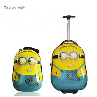 Travel Belt Cute Animal Suitcase Children Rolling Luggage Sets Spinner kids travel Bags Cabin Cartoon Trolley case