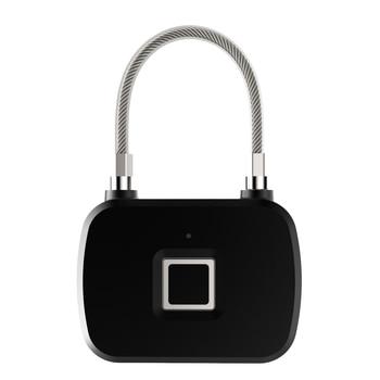 Sicherheit Smart Lock Keyless Smart-Fingerprint Lock Fingerprint Entsperren Anti-Theft Sicherheit Vorhängeschloss Tür Gepäck Fall Schloss L13