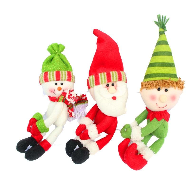 3 Adet / takım Noel Noel Baba enfeites de natal Kırmızı yüksek - Tatiller ve Partiler Için - Fotoğraf 2