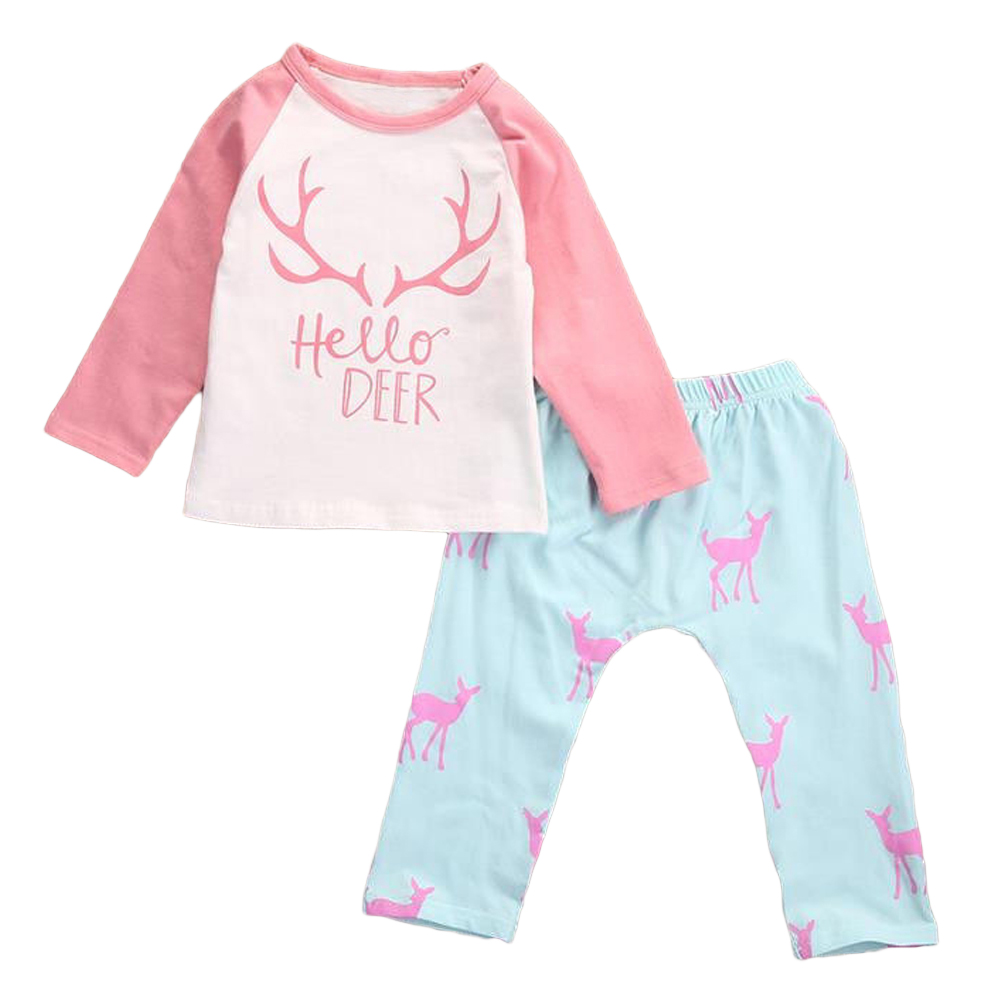 Baby Clothes 2018 Baby Girl Clothing Sets Spring Long Sleeve Toddler T-shirt +Pants Girls Baby Suit for Kids Children Tracksuit