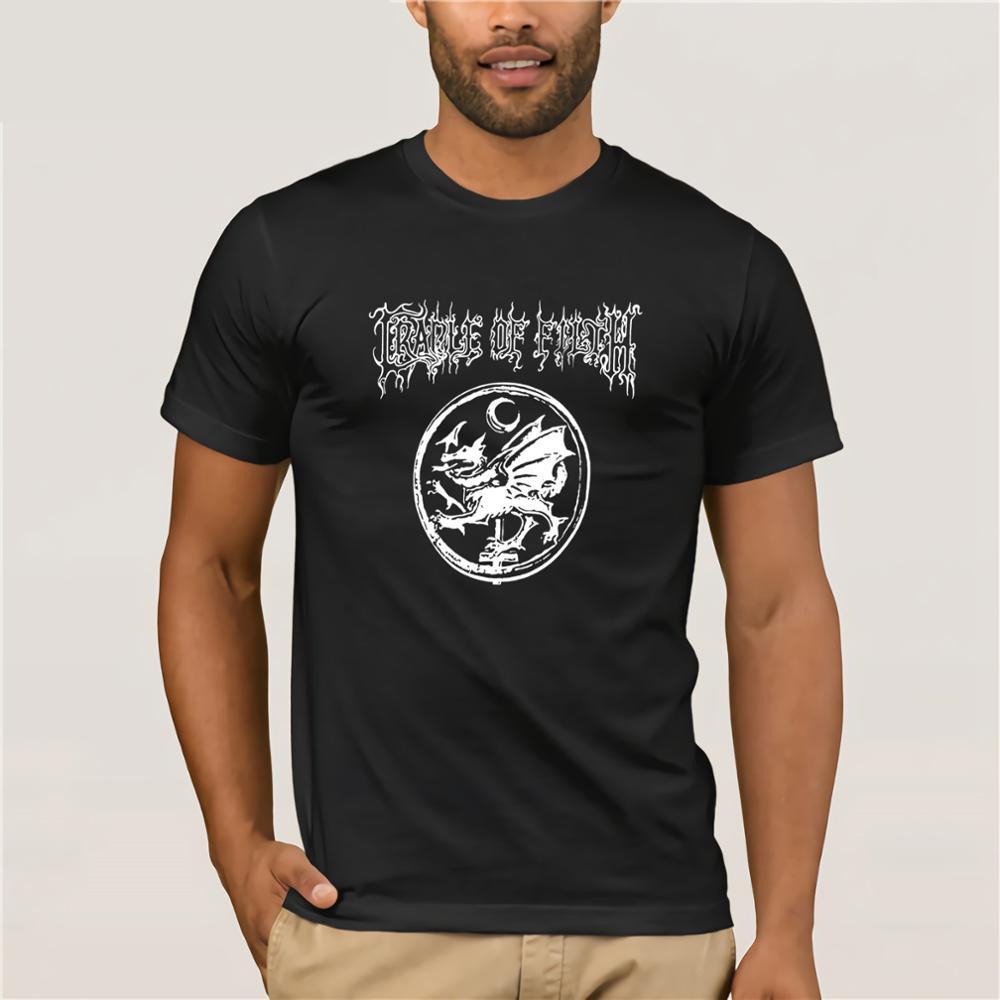 Aufrichtig Cradle Of Filth Schwere Metall Schwarz T-shirt 2019 Neue Mode T Shirt Männer Baumwolle