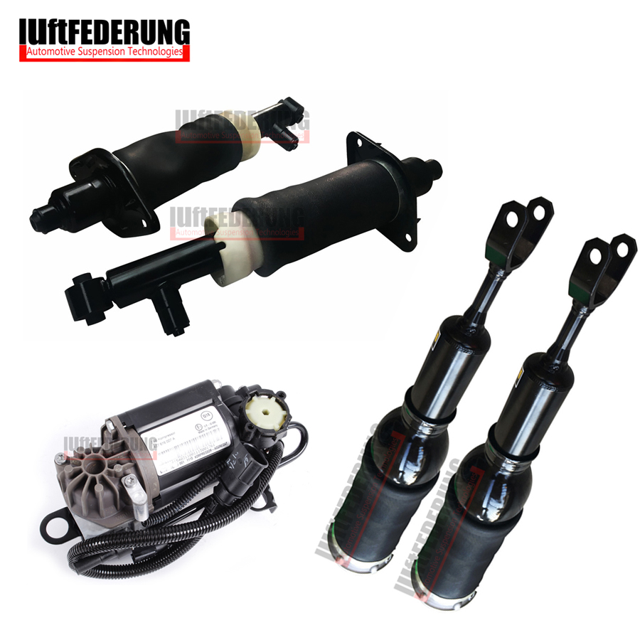 Luftfederung 5 pz Posteriore Air Ride Compressore D'aria Anteriore Aria di Primavera Fit Audi A6 C5 4Z7616051A (51B) 4Z7616007 4Z7513032A (32B)
