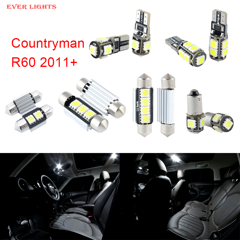13pcs LED Canbus Interior Lights Kit Package For Mini Countryman R60 (2011+) free shipping 60 17x a4 s4 b5 1998 2001 white led lights interior package kit canbus