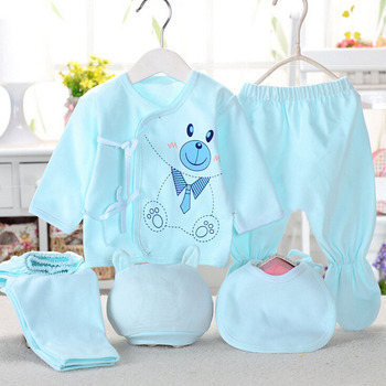 Bekamille Newborn baby sets ( 5pcs/set) infant underwear set unisex clothing suit more 20 styles Baby Accessories