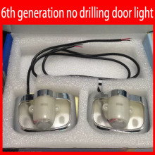 no Drilling 6th generation CREE Car door Logo light 3d Ghost Shadow lamp led Step Puddle Light for all the cars 2pcs