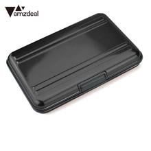 AMZDEAL Portable Memory Card Case Micro SD Holder Waterproof Single Layer Aluminum 16 slots for SD/ SDHC/ SDXC/Micro SD Card
