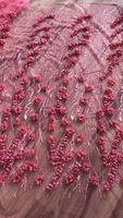 Tulle Bridal Fabric, French Laces Fabrics High Quality Tulle French, 3D Lace Material