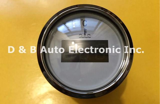 1 unid Indicadores de Agua Termómetro Digital de Temperatura del Agua 12 V/24 V Para El Barco Del Automóvil Con Sensor de Color Blanco