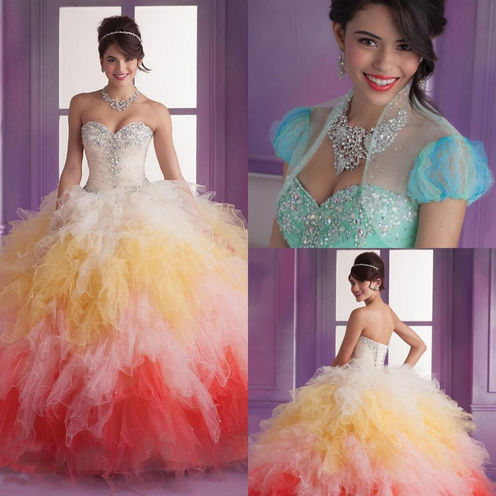 Online Buy Wholesale ombre quinceanera ball gowns from China ombre ...