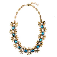 Classy Women Fashion Jewelry Zinc Alloy Collar Necklace 2015 Dress Match Party Blue Crystal Necklace