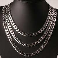 LMNZB 8mm Fashion Statement Necklace Original 925 Silver Vintage Chain Necklace Men Jewelry Hot Sale Full Side Necklace LN034