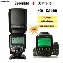 Yongnuo YN600EX-RT II TTL Flash Speedlite + YN-E3-RT Controller For Canon 5DIV 5DIII 5DII 5D 7D 100D 1100D 1000D 1200D Hot shoe