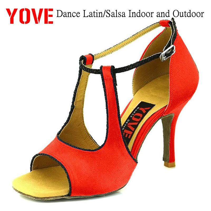 YOVE Style w134-8 Dansschoenen Bachata / Salsa Dansschoenen voor binnen en buiten voor dames