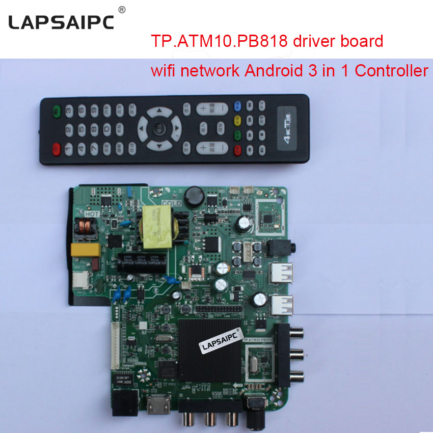 TP.ATM10.PB818 driver board LCD AV TV HDMI RJ45 NETWORK PORT quad core with wifi network Android 3 in 1 Controller motherboard