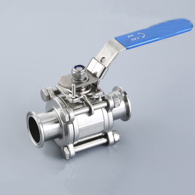 1PCS 1.5 Pipe OD:38MM Sanitary Stainless Steel 3 Piece Ball Valve SS304 Tri Clamp PTFE Ferrule OD 50.5mm арматура для труб other 2 38 1 1 2 1 5 od tri ptfe gasketstainless sus 304 xn0841