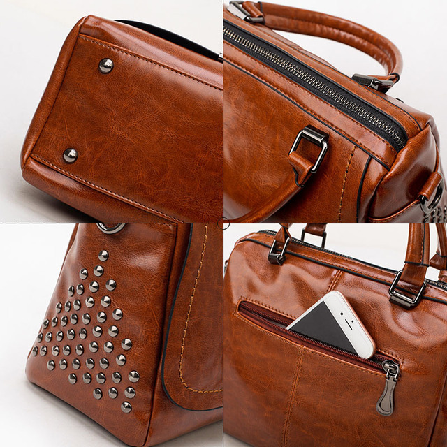 Oil Wax Leather Handbags  4