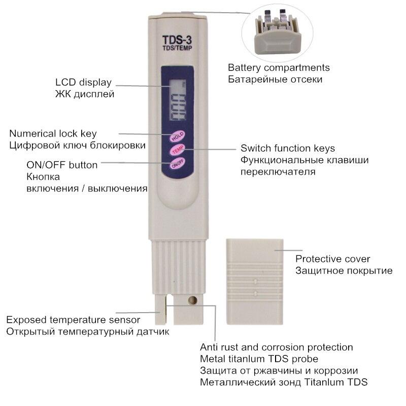Digitaalne PH-mõõtja ja TDS-tester Monitori akvaariumi bassein - Mõõtevahendid - Foto 5