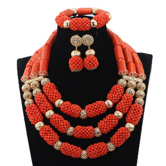 Fashion Chunky Coral Beads Necklace Jewelry Set African Party Jewerly Set Coral Beads Women Jewelry Set Free Shipping CG059Fashion Chunky Coral Beads Necklace Jewelry Set African Party Jewerly Set Coral Beads Women Jewelry Set Free Shipping CG059