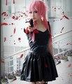 Новый 2015 Аниме 2-й Дневник Будущего Mirai Nikki Gasai Yuno Черное Платье Косплей Костюм