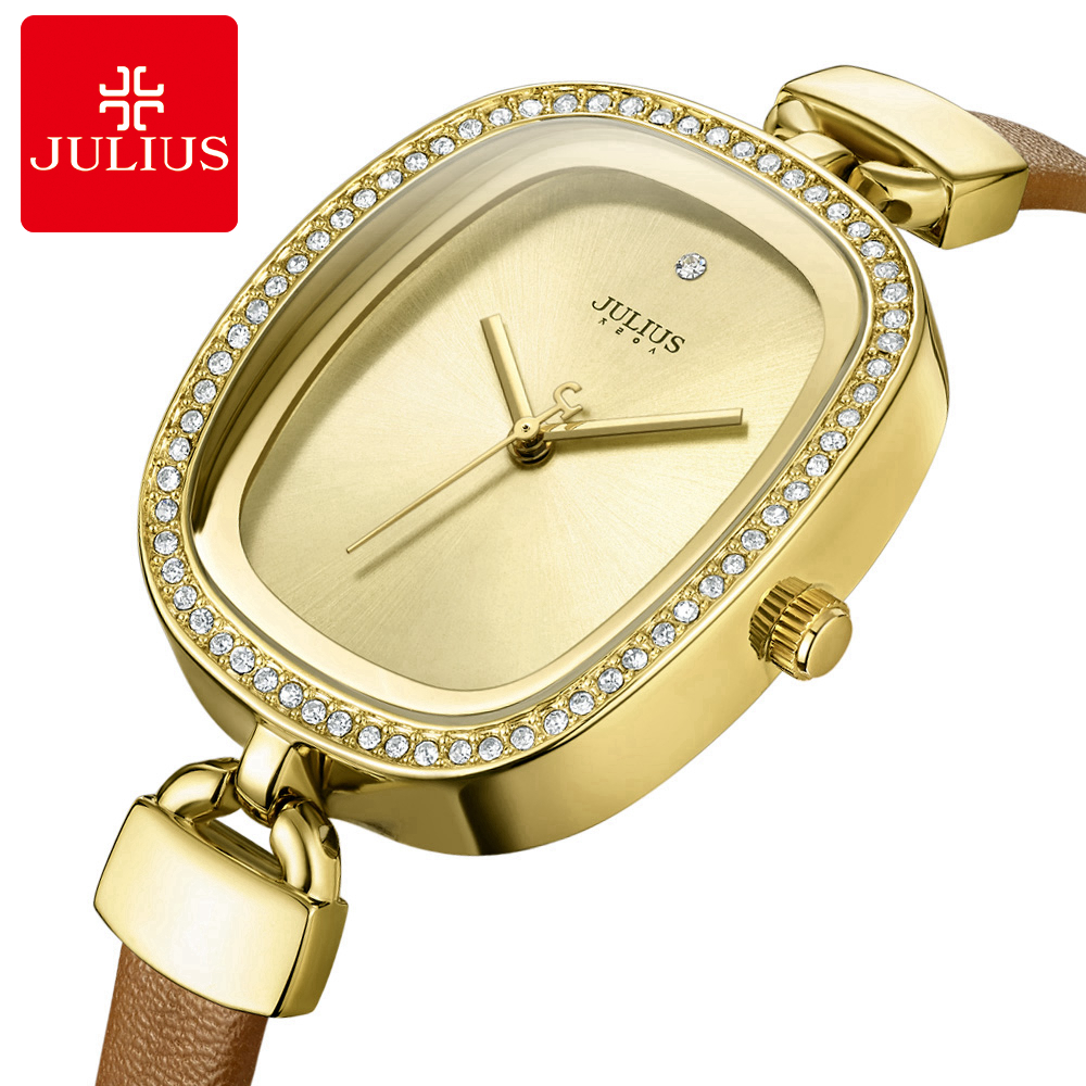 2017 ladies Vintage wristwatch Women Austrian rhinestone watches fashion casual Japan quartz watch Top brand Julius 298 clock imported home body painless permanent laser hair removal device manufacturers of photon hair removal device 100000 times