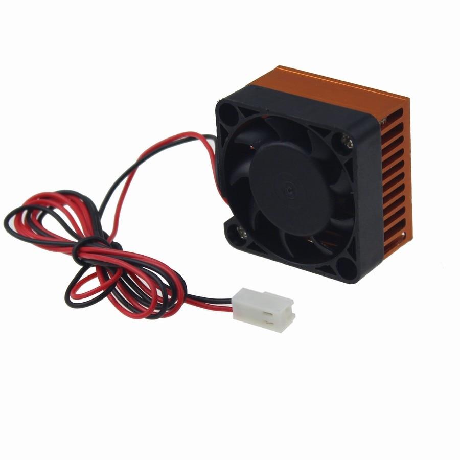 2PCS Gdstime Heat Fan 12V 40X40x10mm DC Brushless Cooling Fan With Aluminum Heatsink For 3D Printer Fan 40mm High Quality anet 12v brushless cooling fan for 3d printer extruder