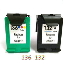 Vilaxh For hp 132 136 compatible ink cartridge for Deskjet 2573 C3183 1513 photosmart c3183 5443 D4163 printer