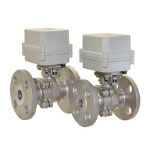 2017 new DC12V,DC24V  SS304 DN15,DN20,DN25 2 way flange electric ball valve цена и фото