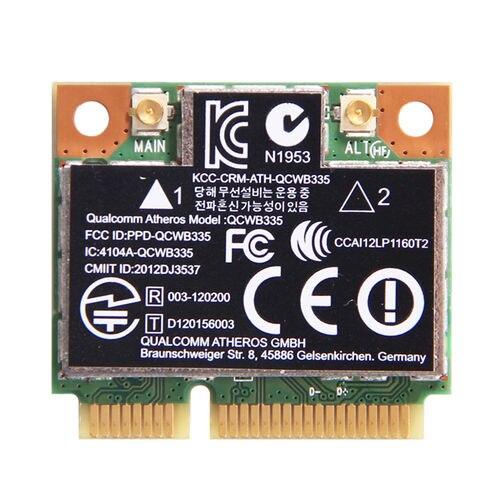 BT4.0 Mini PCI-E WLAN Wireless Card SPS 689457-001 HP Atheros QCWB335 WIFI