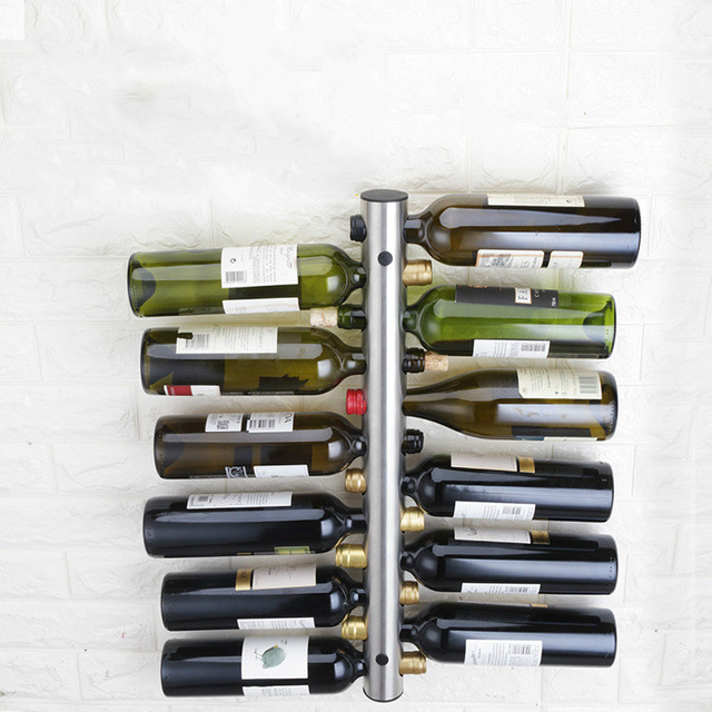 Stainless Steel Wall Mounted Bottle Rack
