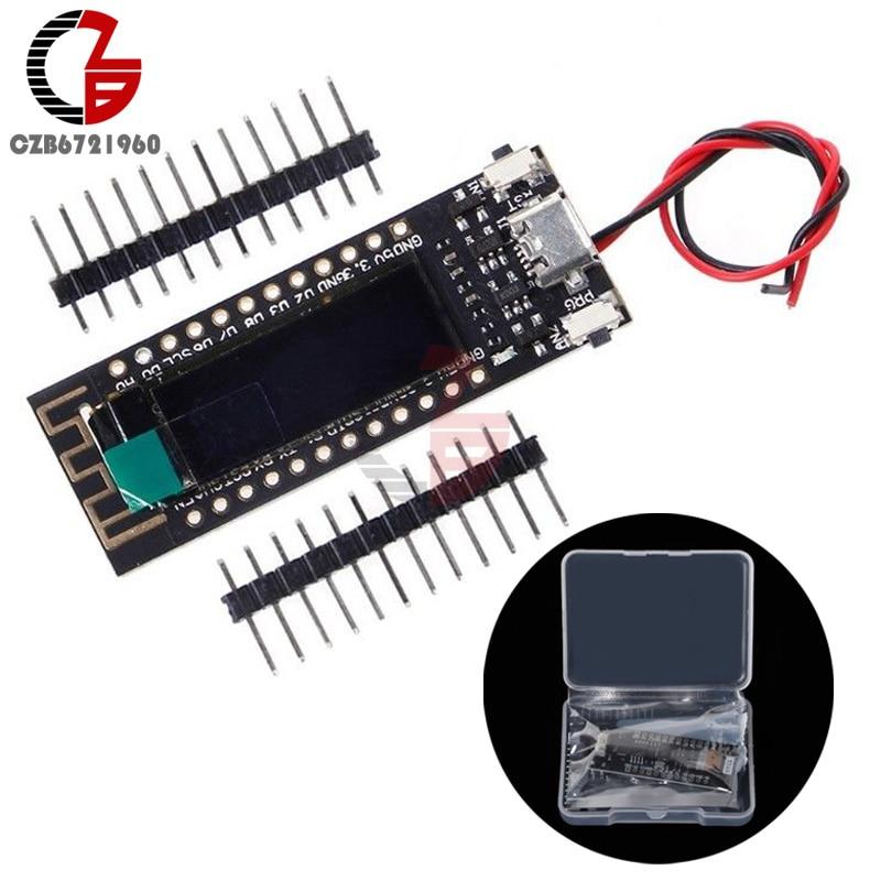 0.91 inch ESP8266 OLED Screen CP2104 Micro USB WIFI Development Board Module DIY Kit with BOX for Arduino Nodemcu
