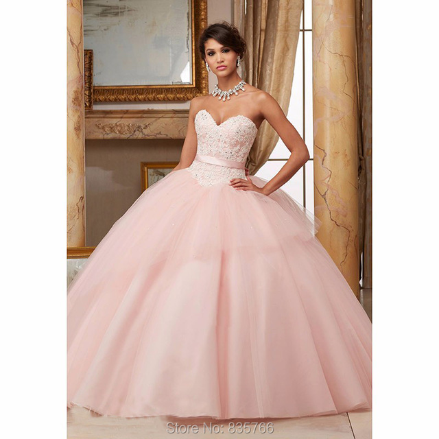 2016 Rosa/Red Ball Vestido do baile de Finalistas Vestido de Renda Beading querida 16 Anos da Festa De Aniversário vestidos de debutantes Quinceanera 15 vestido