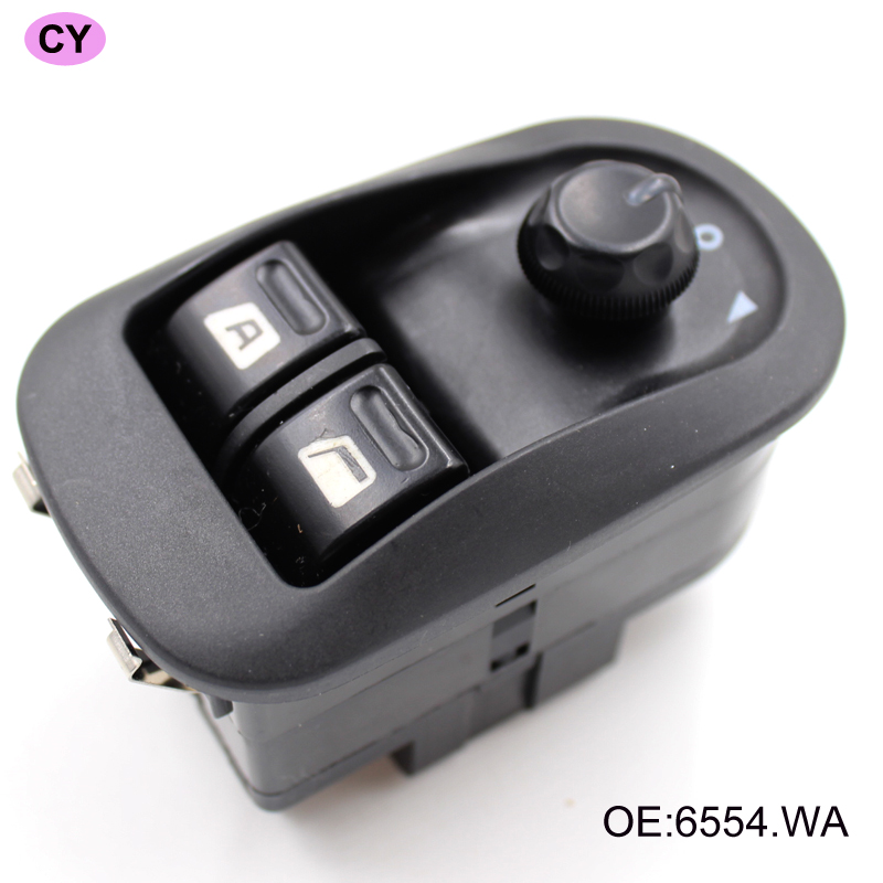 1pc Car Black New Electric Power Window Switch Master Button Control OEM 6554 WA Fits for