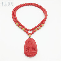 Length Custom Red Natural Stone Necklaces Pendants For Men Women 2018 Unisex Fashion Jewelry Brand Handmade