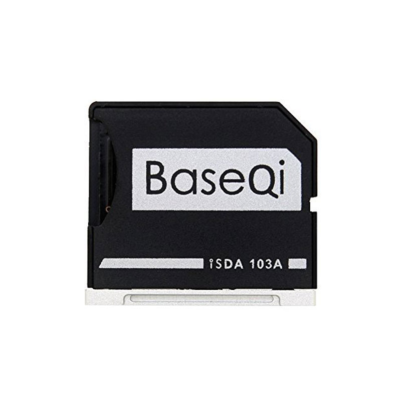 BASEQI Aluminum MicroSD Adapter Metal TF Card Reader For MacBook Air 13