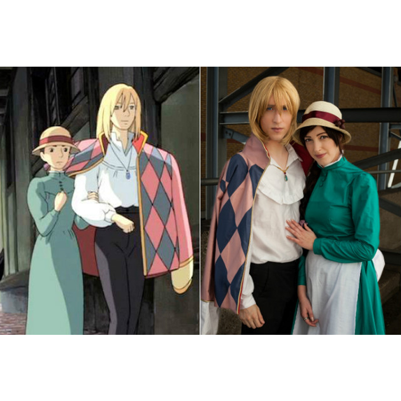buy 2017 new anime howl 39 s moving castle cosplay costume unisex howl costumes. Black Bedroom Furniture Sets. Home Design Ideas