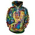 Men hoodies 2017 men's sweatshirt novelty hoodie hip hop tracksuit painting print hoodie plus size S - 3XL unisex pullover