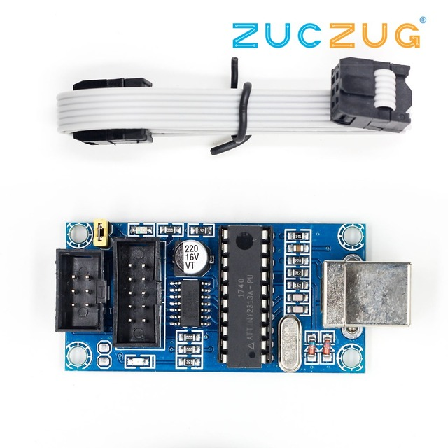 1Set USBTiny USBtinyISP AVR ISP Programmer Bootloader Meag2560 UNO R3 With 10pin Programming Cable