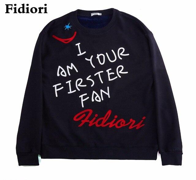 Fidiori 2017 новый письмо печатные теплые толстовки толстовка мужчины марка мода осень зима мужчины толстовки мужчины качество clothing.