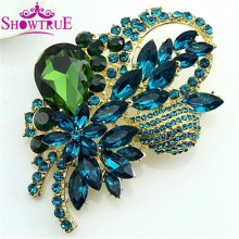 High Grade Elegant Large Crystal Rhinestone Flower Brooch Jewelry For Women Pins And Brooches Jewelry Fashion Accessories X57