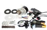 250W Brush Bike Motor Kit Rear Wheel Spokes Gear Sprocket Left Side Chain Drive Model Cheap Solution For DIY E bicycle