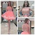 Hot Short Mini Homecoming Dresses Party Gowns A Line Lace Beading Above Knee Vestidos Graduacion 2017 cortos Semi Formal Dress