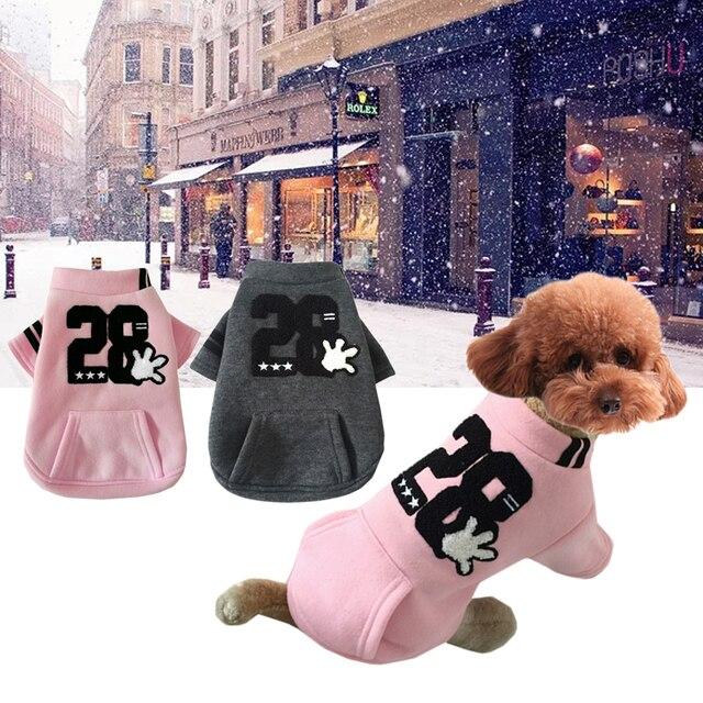 Inverno Caldo Carino Cappotto per Cani Giacca Soft Mescolato Cotone  Cucciolo Pet Abbigliamento Per Chihuahua Yorkie 273c3a14f174