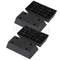 4x Trapezoid Black Plastic Furniture Legs For Sofa 163 X 86 X 40mm BQLZR