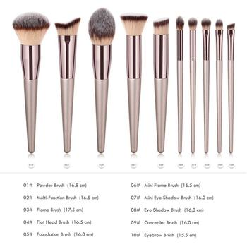 New Women's Fashion Brushes 1PC Wooden Foundation Cosmetic Eyebrow Eyeshadow Brush Makeup Brush Sets Tools 2