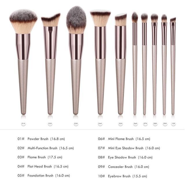 New Women's Fashion Brushes 1PC Wooden Foundation Cosmetic Eyebrow Eyeshadow Brush Makeup Brush Sets Tools 2