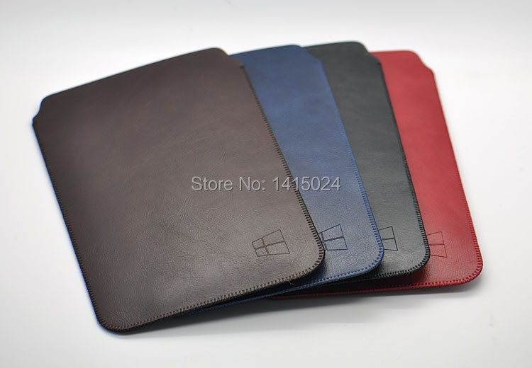 simplism style ultra-thin super slim sleeve pouch cover, vintage microfiber stitch case for Surface Pro 3/4 + Type Cover3/4