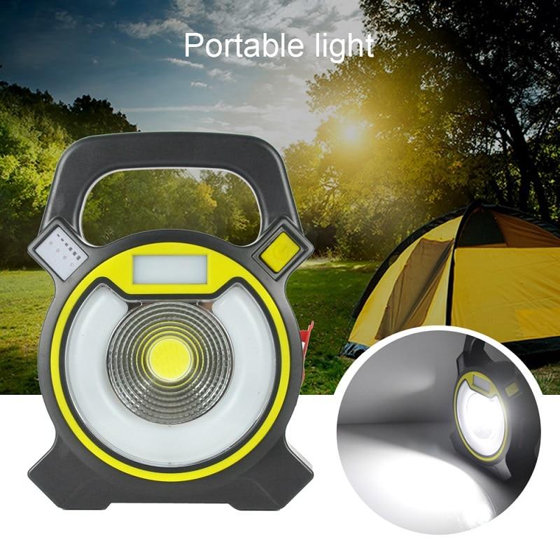 BORUIT LED ultrathin led flood lights 15W Waterproof IP65 rechargeable portable Spotlight Floodlight lamp camping light Bule Red