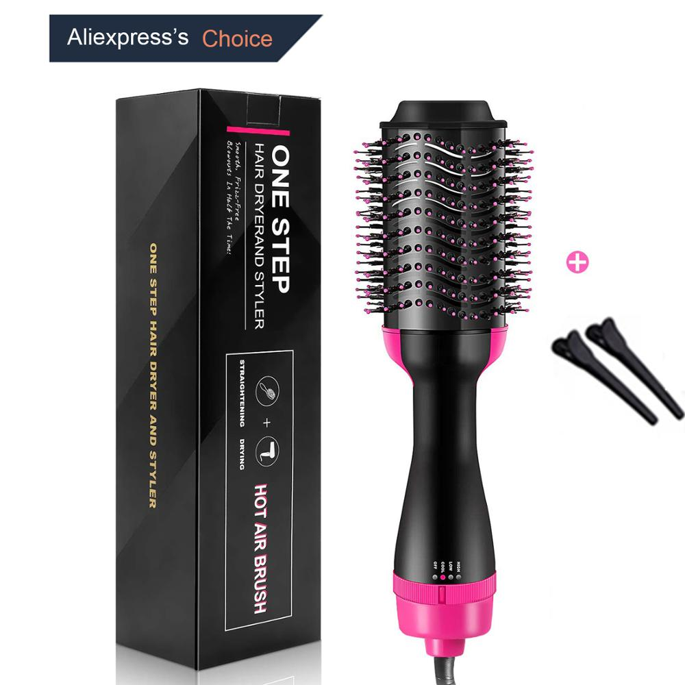 NIKAI One Step Hair Dryer Brush Straightener Curler