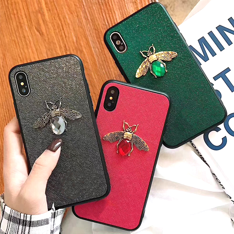 Luxury Fashion brand Diamond Bee Glitter soft case for iphone 6 S 7 8 plus X XR XS Max Cute Hard Cover for iphone 7 8 6S 5 5S SE (1)